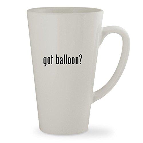 got balloon - 17oz White Sturdy Ceramic Latte Cup Mug