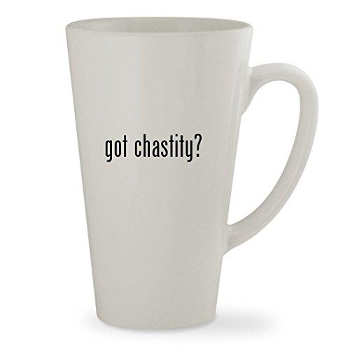 got chastity - 17oz White Sturdy Ceramic Latte Cup Mug