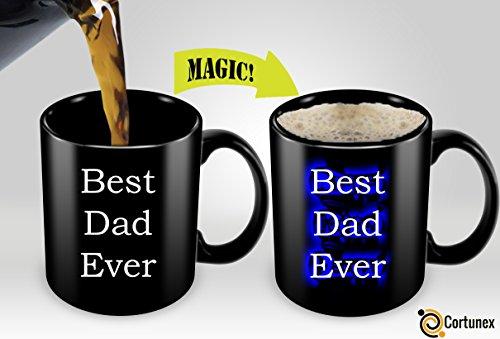 Heat Sensitive Mug  Color Changing Coffee Mug  Funny Coffee Cup  Best Dad Ever Magic Mug 11oz