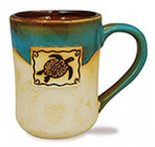 Cape Shore 16 Ounce Stoneware Partial Glaze Pottery Mug Sea Turtle