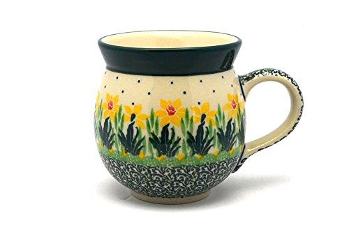 Polish Pottery Mug - 11 oz Bubble - Daffodil