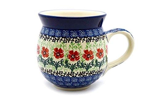 Polish Pottery Mug - 11 oz Bubble - Maraschino