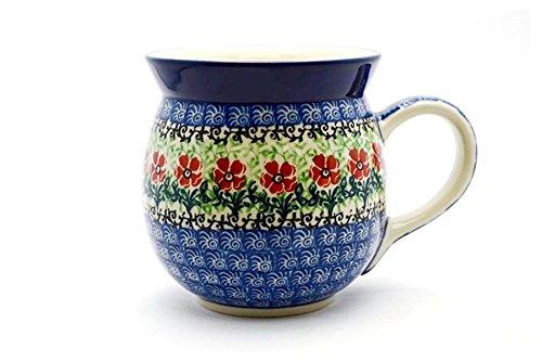 Polish Pottery Mug - 15 oz Bubble - Maraschino