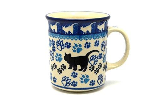Polish Pottery Mug - Straight Sided - Boo Boo Kitty