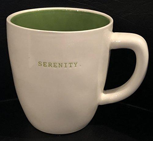 Rae Dunn Artisan Collection By Magenta Pottery Mug 4 Diameter X 5 Deep SERENITY-Green Inside Dishwasher Safe