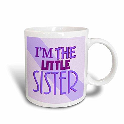 3dRose mug_13828_2 Im the Little Sister Purple Ceramic Mug 15-Ounce