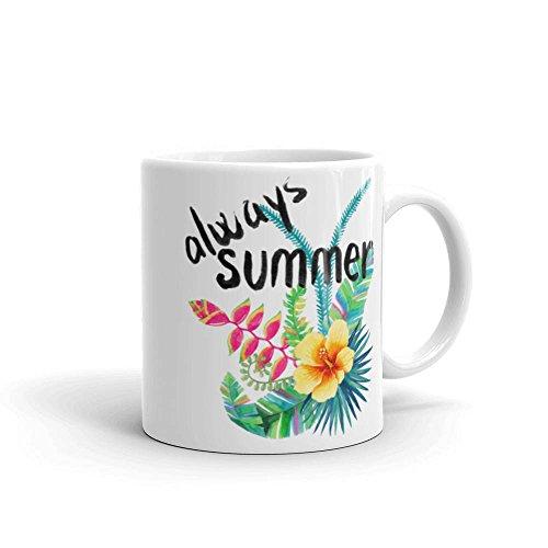 SAYOMEN - Always Summer - Tropical Island Vacation Floral Beach Coffee Mug MUG 11oz