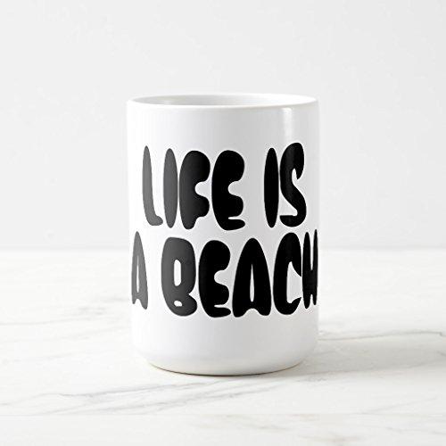 Zazzle Life Is a Beach Coffee Mug White Classic Mug 15 oz