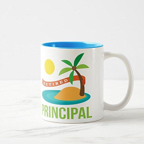 Zazzle Retired Principal Beach Coffee Mug Light Blue Two-Tone Mug 11 oz