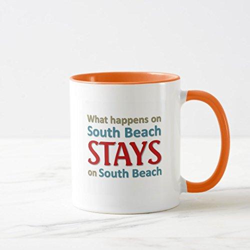 Zazzle What Happens On South Beach Coffee Mug Orange Combo Mug 11 oz
