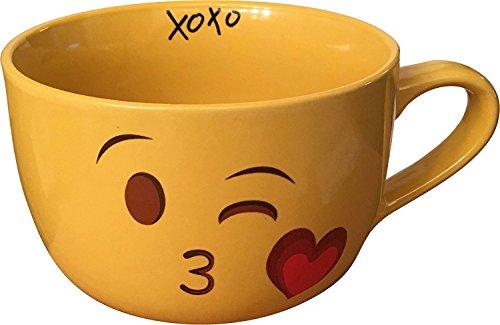 Emoji Kiss Wink Face Coffee Mug XL