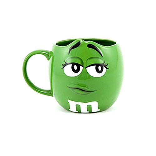 M&M Official Anniversary Green 3-D Big Face Coffee Mug