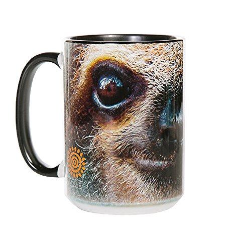 The Mountain 57359609001 Sloth Face Coffee Mug 15 oz Black