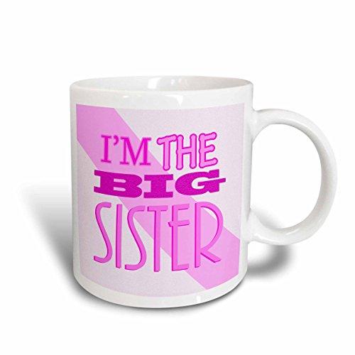 3dRose Im The Big Sister Pink Ceramic Mug 15-Ounce