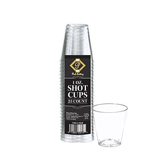 Posh Setting 1oz Clear Hard Plastic Shot Glasses 100 count Shot Cups