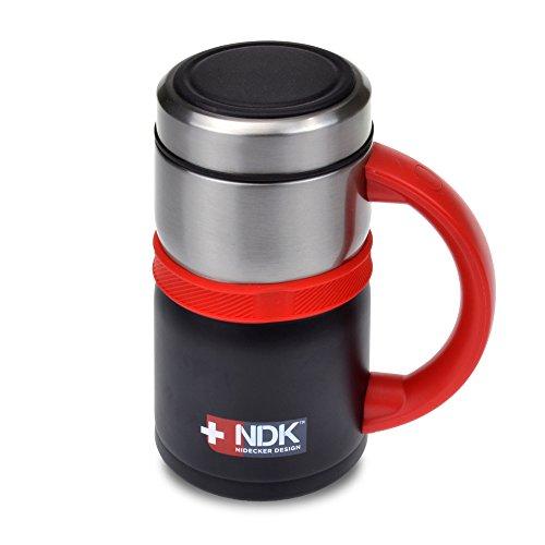 Smart Planet NDK Nidecker Designs Deluxe 18 oz 188 Stainless Steel Insulated Vacuum Mug Black