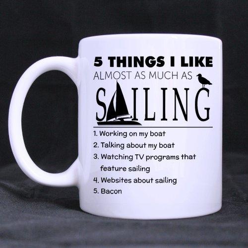 Funny Hobby Mug - Five Things I like mug Mug Funny Novelty Ceramic Tea Coffee Mug with Gift Box 11oz