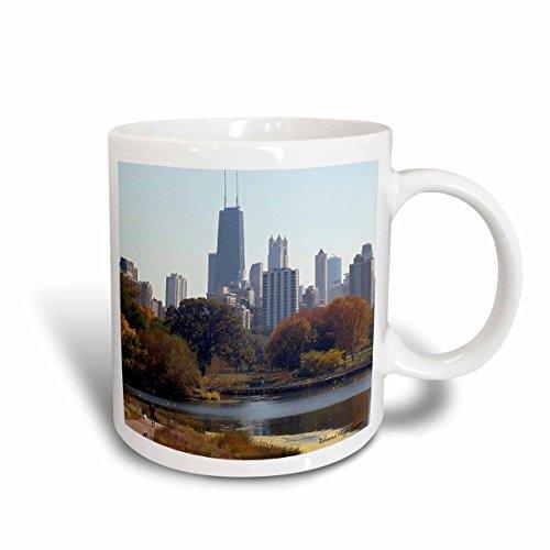 3dRose Chicago in The Fall Ceramic Mug 15-Ounce