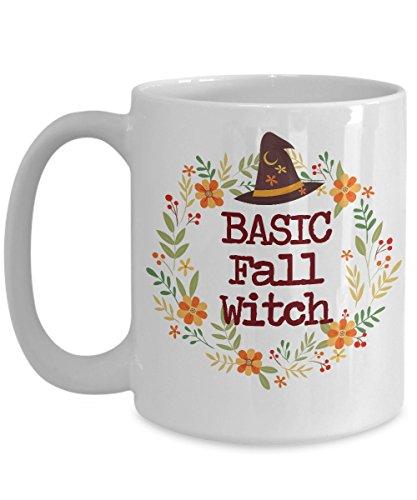 Fall Mug - Autumn Mug - Basic Witch - Funny Mug For Girls - Witches Brew Coffee Mug - Halloween Mug