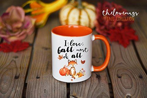 Fall Mug Fall Coffee Mug I love Fall Mug Pumpkin Mug