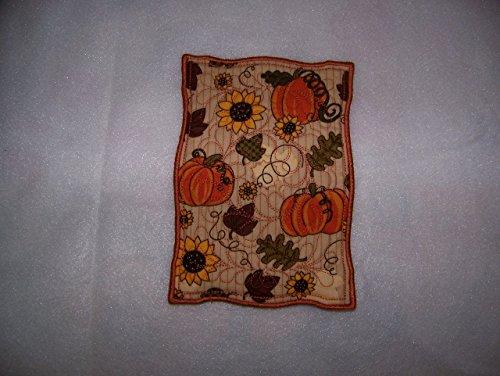 Fall Pumpkin Mug Rug