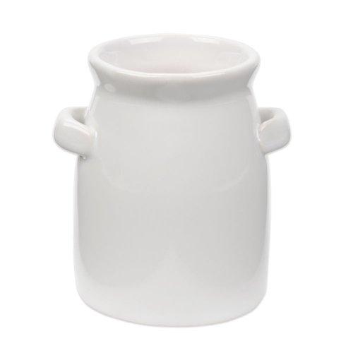 American Metalcraft CMP3 4 oz Tall Mini Ceramic Milk Jug - 6Pack