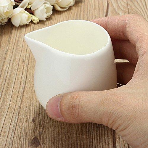 Bazaar 125ml White Small Ceramic Milk Jug Kitchen Pouring Coffee Cream Sauce Cup
