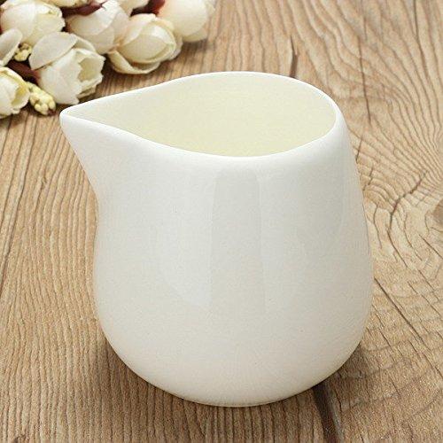 Bazaar 150ml White Small Ceramic Milk Jug Kitchen Pouring Coffee Cream Sauce Cup