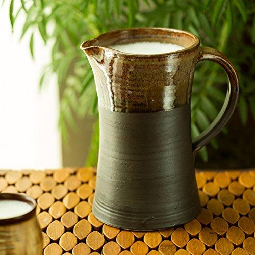 ExclusiveLane Matte Mitti Ceramic Milk Water Jug Studio Pottery -Carafes Pitchers Jars Containers Kitchen Storage