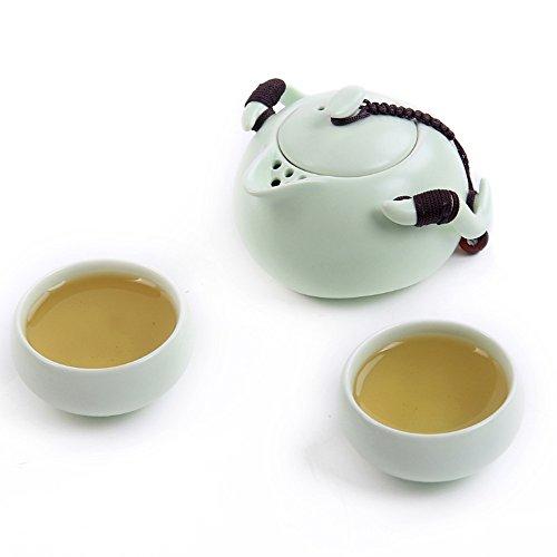 Eternal Ceramic Chinese Gongfu Travel Tea Set Green