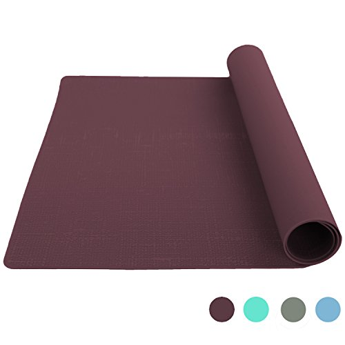 Bakingfun Silicone Placemat for Dining Table Reusable Kids Place Mat Heat Resistant Silicone Baking Mat - Wine
