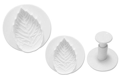 BleuMoo Fondant Cake Icing Decorating Rose Leaf Sugarcraft Plunger Cutter Mold Tool
