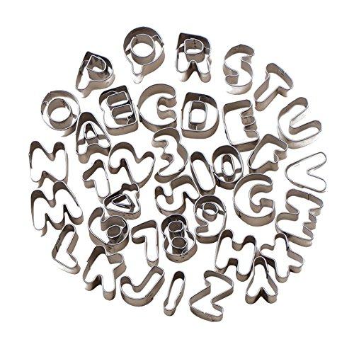 RoseSummer Alphabet Letter Number Cake Decorating Set Fondant Icing Cutter Mould