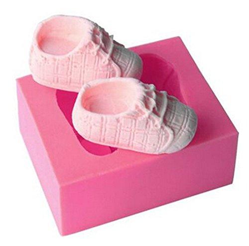 VWH Baby Shoes Silicone Fondant Mold Cake Jelly Molds Kitchen Baking Tool Chocolate Mould Cake Baking Decorating Kits