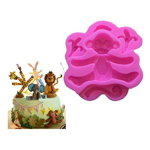 VWH Monkey Silicone Fondant Mold Cake Jelly Molds Kitchen Baking Tool Chocolate Mould Cake Baking Decorating Kits