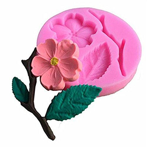 VWH Peach Blossom Silicone Fondant Mold Cake Jelly Molds Kitchen Baking Tool Chocolate Mould Cake Baking Decorating Kits