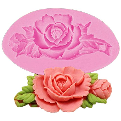 VWH Rose Flower Silicone Fondant Mold Cake Jelly Molds Kitchen Baking Tool Chocolate Mould Cake Baking Decorating Kits