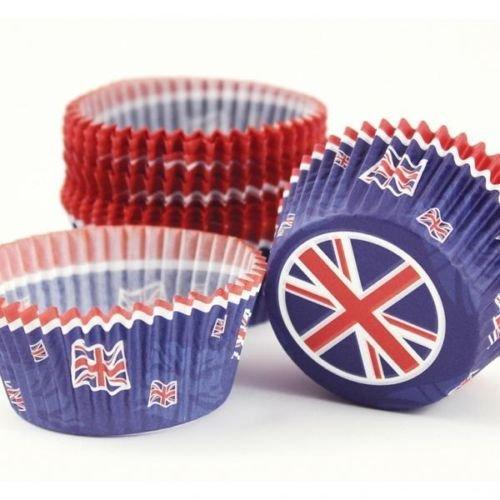 Great Britain Union Jack Cupcake Cases x 50