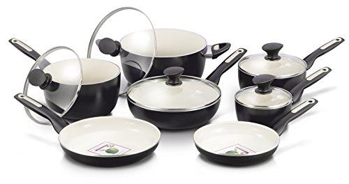 Greenpan 12 Piece Rio Ceramic Non-stick Cookware Set, Black
