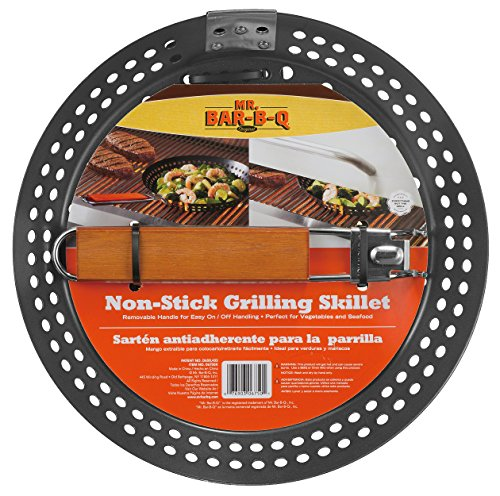 Mr Bar-B-Q 06750X Non Stick Grilling Skillet with Removable Handle