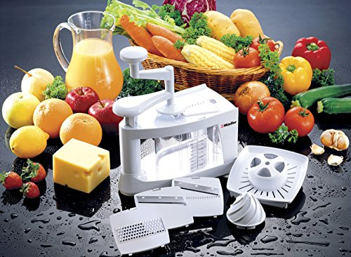 Müeller Spiral-ultra 4-blade Spiralizer, 8 In 1 Spiral Slicer, Heavy Duty Vegetable Pasta Maker And Mandoline