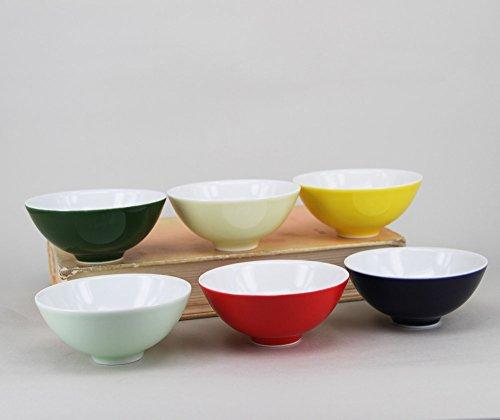 6pcs Jingdezhen Handmade Color Glazed porcelain tea cup set in 6 colors