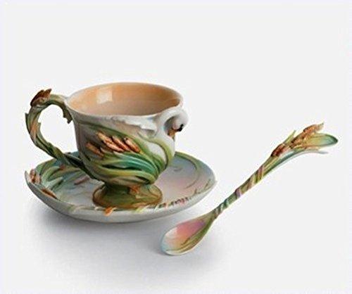 Swan Lake Swan Porcelain Tea Cup Set