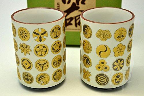 Japanese Mino Yaki Sushi Yunomi Tea Cup 2pc set 73  73  103cm 28  28  4inch6835