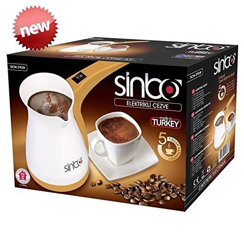 Sinbo SCM 2928 Greek Turkish Coffee Maker Machine Electric Pot Briki Ibrik 220V