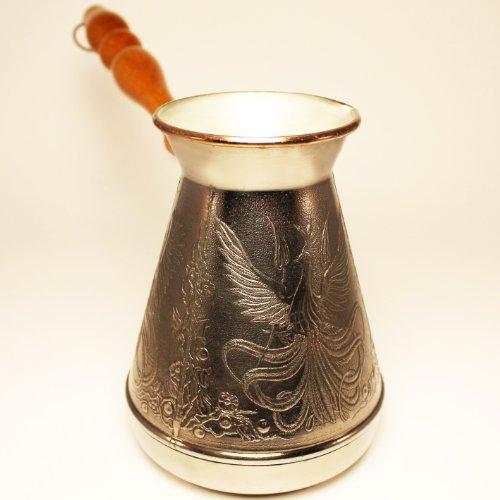 Turkish Greek Coffee Pot Phoenix Volume 20 Oz - 600 ML Ibrik Briki Cezve Turka