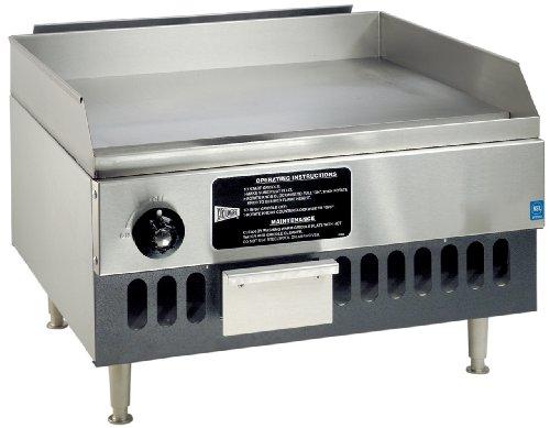 Grindmaster-Cecilware BG12-NAT Medium Duty Natural Gas Stainless Steel Griddles 12-Inch
