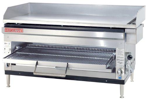Grindmaster-Cecilware HDB2031-LP Liquid Propane Gas Steel and Stainless Steel GriddlesCheese Melter 60000 BTUsHour