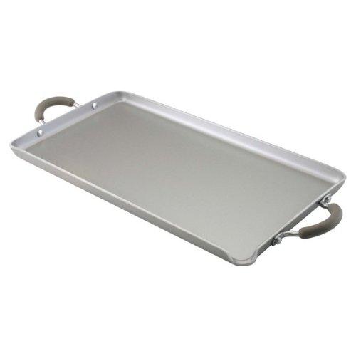 Farberware Specialties Nonstick Aluminum 18-Inch x 10-Inch Double Burner Griddle Platinum