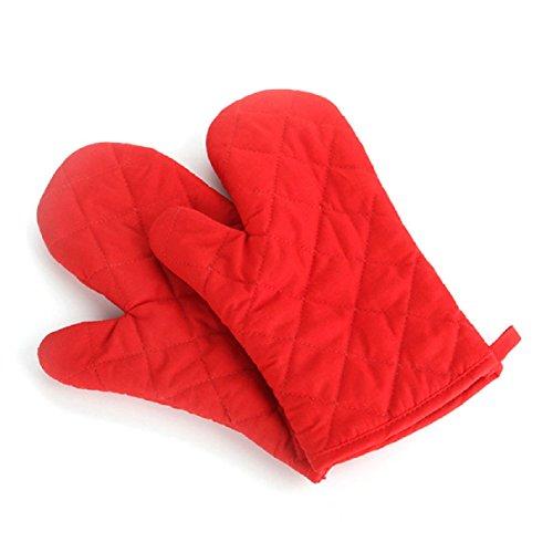Coromose 2pcs Cotton Oven Gloves Heat Resistant Microwave Oven Kitchen Gloves
